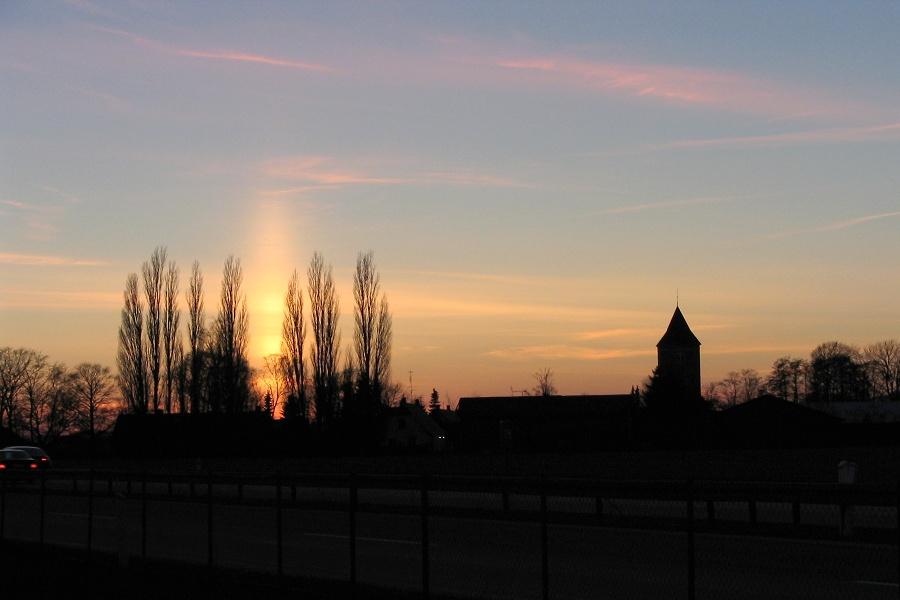 Sun Pillar and Church