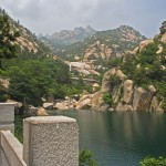 Laoshan Lake and mountains