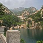 Laoshan Lake and mountains